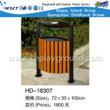 Outdoor Environmental Wooden Dust Bin with Ashtray (HD-18307)
