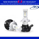 LED Head Lamp H4 LED Head Light Bulb with Adjustable Chuck Angle for Auto Car LED Headlight 16 PCS Hi/Lo Chips Zes