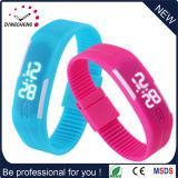 Women Digital LED Silicon Wristband Silicone Watch (DC-1128)