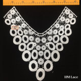 35*35cm Elegant Bridal Lace Trim with Strip Holes Connected Garment Accessories Polyester Collar Trimming Lace Hml8673