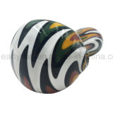 White Switchbacks Bowl Orange Combination of Printing Spoon Hand Pipe (ES-HP-172)