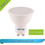 Plastic and Aluminium GU10 3W 5W 6W SMD LED Spotlight Bulb