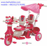 Double Two Seat Kids Children Baby Tricycle for Twins