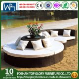 Sun Bed Rattan Garden Circular Curved Sofa Set Circular Chair Tg-Jw005