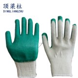 10 Gauge Polycotton Safety Glove Smooth Latex Coated in China
