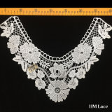36*29cm Elegant Bridal Lace Trim with Fashion Knitted Lotus Flowers Polyester Customized Applique Collar Trimming Lace Hml7865