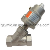 GM Pn16 Stainless Steel Pneumatic Angle Seat Valve Threaded End