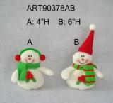 "6""H Snowman Ornament Christmas Tree Decoration-2asst"