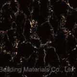 Foshan Tile Building Material Full Body Light Polished Glazed Porcelain Floor Tile Black (BMG12P)