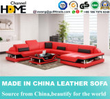 Modern Home Fashion Black Leather Sofa with Corner (HC1110)