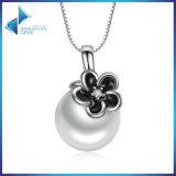 925 Sterling Silver Mystic Floral Pendant Necklace, White Pearl Necklaces