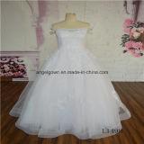 off Shoulder Lace Floor Length Elegant Bridal Gown