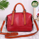 Trendy Luxury Quality Women Gender and Genuine Leather Material Genuine Leather Lady Handbag Emg5041