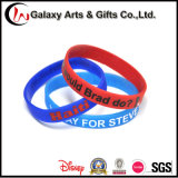 Silkscreen Printing Promotional Cutom Silicone Wristband/Bracelet/Bangles