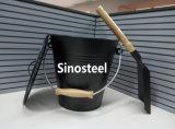 Galvanized Ash Bucket and Shovel/Coal Bucket