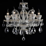 Luxury and Golden Hand-Drawing Crystal Chandelier Light