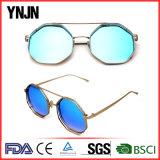 Ynjn Unisex Mirror Lenses Irregular Octagon Sunglasses