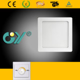 Dimmable 6W Square Super Slim Surfaced Mounted LED Panellight