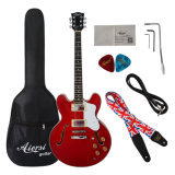 Cheap Price Arch Body Wine Colour Electric Jazz Guitar for Sale