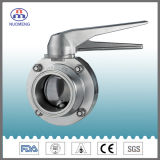 Stainless Steel Manual Clamped Butterfly Valve (SMS-No. RD0212)