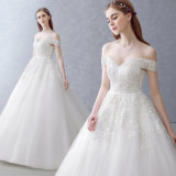 Wholesale A-Line Sweetheart off The Shoulder Wedding Dress with Applique