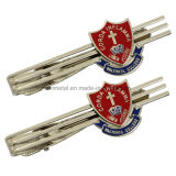 Custom Hard Enamel Filled Metal Tie Clip for College Students