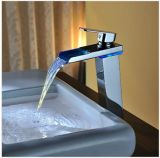 Water Power Temperature Controlled Bathroom Brass Faucet