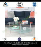 Hzct151 Wave Oval Glass Multiple Colors Coffee Table
