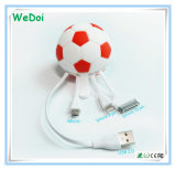 New Football Shaped 3 in 1 USB Cable with Low Cost (WY-CA31)