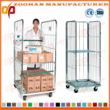 Stackable Folding Logistic Storage Wire Roll Pallet Cage Container (Zhra63)