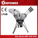 Gas Burner with Adjustable and Removable Legs