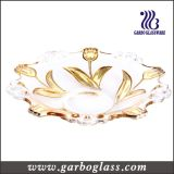 13.5′′ Gloden Plating Glass Fruit Bowl