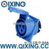 Ceeform Single Phase 3 Pins Blue Industrial Angle Type