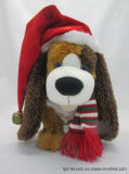 Voice Christmas Plush Toy Doll Santa Dog