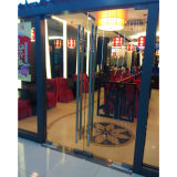 High Quality Frameless Glass Swing Door with Tublar Handle K08002