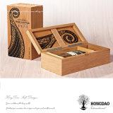 Hongdao Custom Made Wooden Wine Gift Box Wine Bottle Box Wood Wholesale Price _E