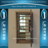 Aluminium Casement Window with Protective Guard for House Decoration