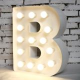 Luxury Decoration Light Bulb Sign Letters for Outdoor Display