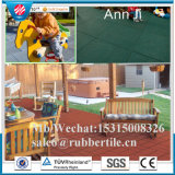 600*600mm Interlocking Rubber Brick, Outdoor Interlocked Recycled Rubber Tile