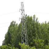35kv Linear Angle Steel Power Transmission Tower (single circuit)