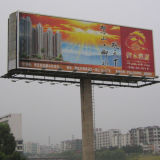 Unipole Outdoor Supported Prisma Advertising Billboard