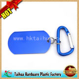 Promotion Carabiner Dog Tag Label with Printed Logo (TH-06937)