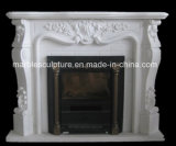 Natural Stone Carved Pure White Marble Fireplace (SY-MF175)