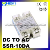 SSR-10da DC Control AC 10A SSR Solid State Relay with CE Approval