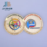 Custom Embossing Logo Soft Enamel Golden Antiqu Coin