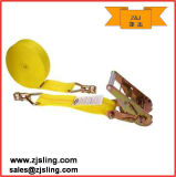 """2"""" Double Stud Fittings Ratchet Strap 2""""X30′ Yellow"""
