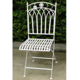 Folding Antique White Outdoor Chair
