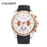 6827multi-Function Wristwatch 48mm Case Ss Buckle Silicone Strap