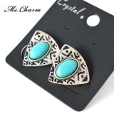 Natural Oval Synthetic Stone Earrings Vintage Style 5A Fashion Jewelry