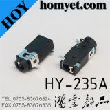 2.5mm 4pin SMD AV Jack/ Phone Jack with Two Mast (hy-235A)
